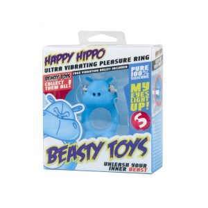 Happy Hippo Silicone Cock Ring
